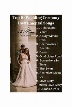 Song Ideas For Wedding Ceremony
