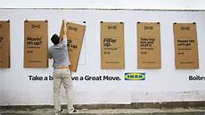 ikea s cardboard outdoor posters fold into moving