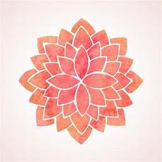 disegni fiore di loto watercolor flower pattern mandala stock vector