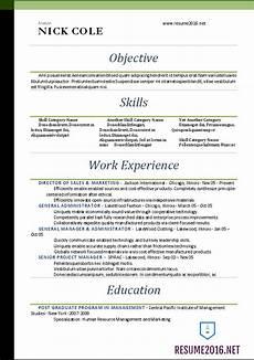 word resume templates 2016