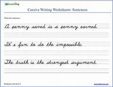cursive writing sentences worksheets free 22145 writing cursive sentences worksheets free and printable k5 learning