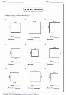 geometry worksheets area and perimeter 612 rectangle worksheets