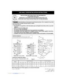 frigidaire fgb24t3eb 24 inch single gas wall oven manuals