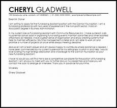 fundraising assistant cover letter sle cover letter templates exles