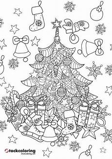 weihnachtsbaum zentangle coloring page