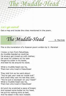 poem worksheets for grade 7 25434 grade 7 reading lesson 11 poetry the muddle with images reading lessons reading