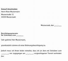 Wohnung Besichtigungstermin Vereinbaren by Vereinbarung Modernisierung Durch Mieter Vorlagen De