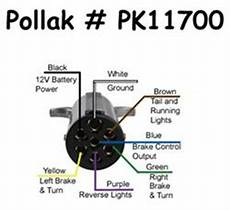 heavy duty trailer wire diagram 7 what are wiring codes for a pollak 7 pole pin connector etrailer