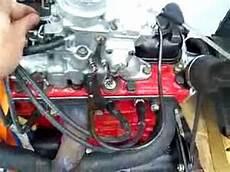 motor opel kadett b 1 2s en banco de rodaje