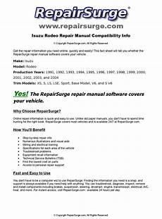 online auto repair manual 1994 isuzu rodeo security system isuzu rodeo online repair manual for 1991 1992 1993 1994 1995 1996 1997 1998 1999 2000