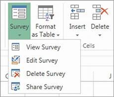 surveys in excel hosted online office support