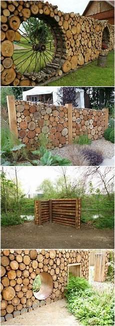 Holz Stapeln Ideen - tronchi di legno in giardino prendi spunto da queste