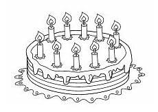 Kinder Malvorlagen Torte Ausmalbilder Zum Geburtstag Geburtstagstorte Kerzen