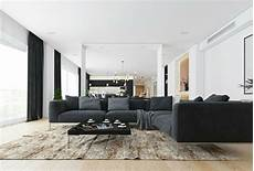 minimalistisch einrichten moderne wohnzimmer mit