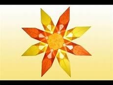 bilder sterne sterne basteln 8 zackiger orange gelber aus