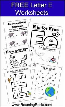 Letter E Free Alphabet Worksheets For Letter E
