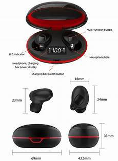 Bakeey Smart Bluetooth Headsets Digital Display by Accessories Bakeey V1 Tws Bluetooth Earphone Gaming