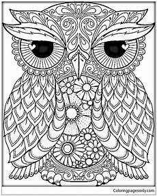 mandala owl coloring page free coloring pages