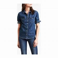 levi s ultimate western chemise en jean bleu jean