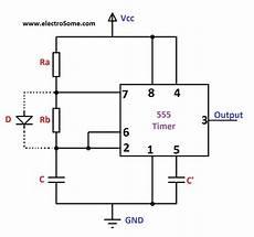 Astable Multivibrator Using 555 Timer Circuit Diagram