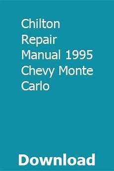 small engine repair training 1995 cadillac fleetwood engine control chilton repair manual 1995 chevy monte carlo chilton repair manual repair manuals chevy