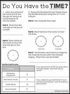 time word problem worksheets for grade 3 3420 elapsed time word problems worksheets for ccss 3 md 1 by s classroom