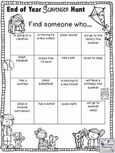 3rd grade grapevine end of year scavenger hunt thirdgradetroop com end of year party
