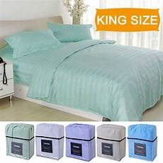 4 piece bed sheet deep pocket 5 color available king size new ebay