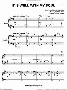 bliss it is well with my soul sheet music for piano four