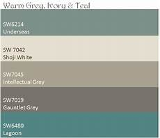 warm grey ivory teal color palette these are the paint colors i will be using in my