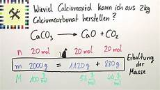 herstellung calciumcarbonat berechnung 220 bungsvideo