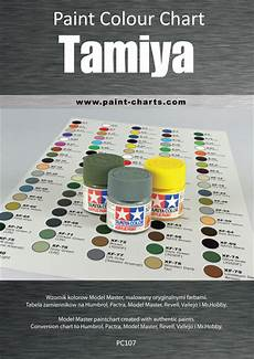 paint colour chart tamiya 12mm pjb pc107