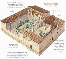 roman villa house plans casa de vettii in 2020 ancient roman houses roman house