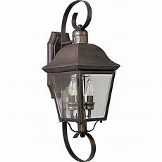 progress lighting andover collection 2 light outdoor bronze wall lantern p5688 20 the