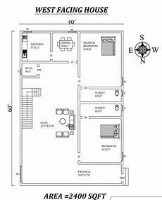 vastu for west facing house plan 40 x60 2 bhk west facing house plan as per vastu shastra