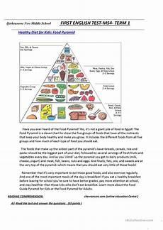food pyramid english esl worksheets