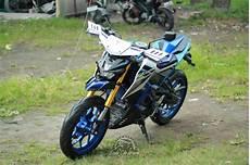 Modifikasi Motor Xabre by Terinspirasi Dari Moge Yamaha Mt 09 Rally