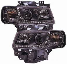 vw transporter t4 96 03 longnose black drl headlights ebay