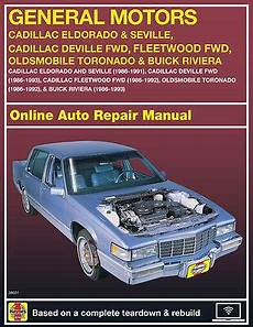 manual repair autos 1993 cadillac seville on board diagnostic system 1988 cadillac seville haynes online repair manual select access ebay