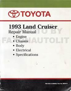 car owners manuals free downloads 1993 toyota land cruiser navigation system 1993 toyota land cruiser repair shop manual factory reprint