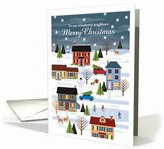 merry christmas neighbors card