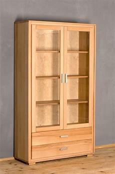 vitrine kernbuche vitrine genf 2 t 252 rig kernbuche massivholz ge 246 lt gewachst