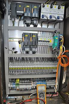 Plc Panel During Commissioning Electronic Engineering