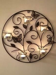 6 piece butterfly metal wall art sconce tea light candle holder metal walls