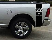 2 X Stickers Truck Bed Or Car Stripe Compatible With Dodge