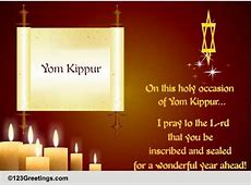 jewish greeting for yom kippur