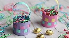 how to make a mini paper easter basket easter egg holder