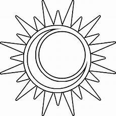 best sun outline 1543 clipartion