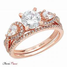 1 80 carat engagement bridal ring band diamond simulant 14k rose gold ebay