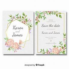 wedding invitation template floral wedding invitation template with golden frame